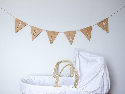 Large Wooden Bunting - Price per 1 personalised triangle
