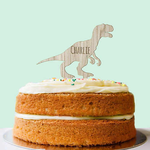Personalised T-Rex Dinosaur Cake Topper 11.95