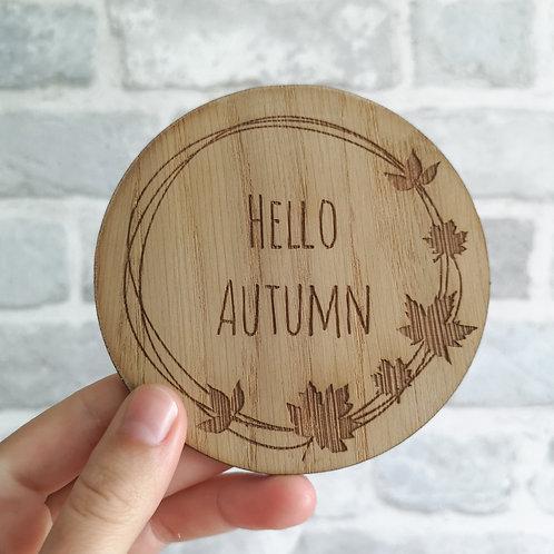 Oak Hello Autumn Wooden Photography Props