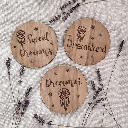 Dreamcatcher Discs, LARGER Oak Wooden Photography Props