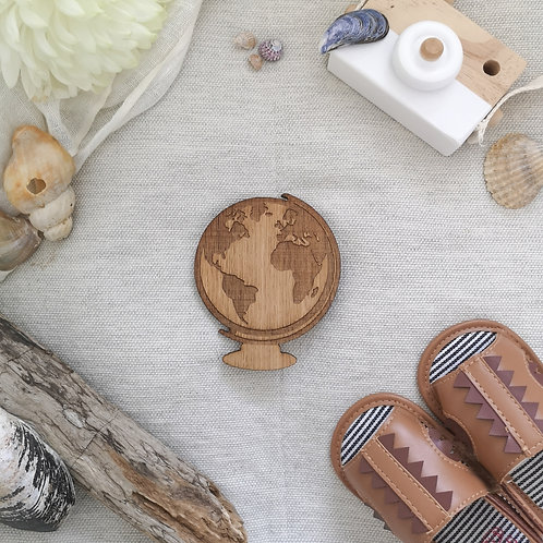 Oak Globe Wooden Photography Prop