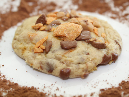 Nobody better lay a finger on my Butterfinger Chocolate Toffee Crunch Cookie!!