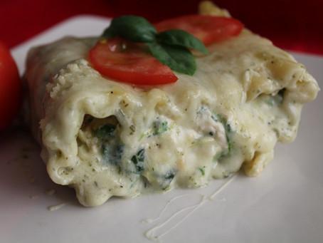 Creamy Chicken, Spinach & Artichoke Stuffed Pasta!!