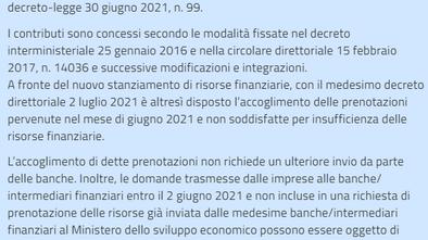 DECRETO DIRETTORIALE 2 LUGLIO 2021 - SABATINI