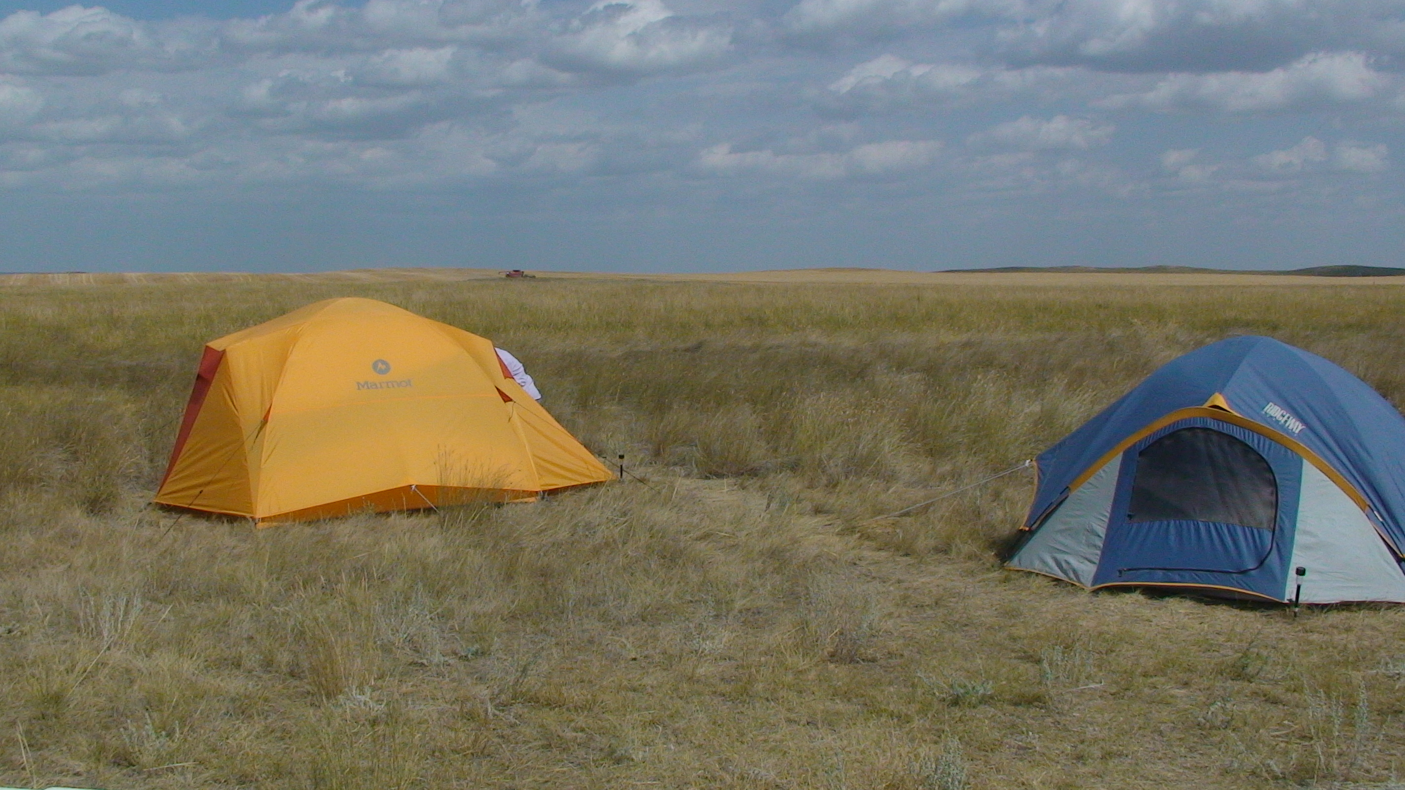 Camping on the coulee rim.