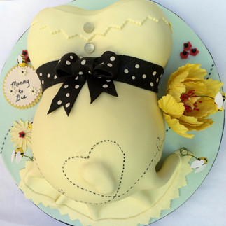 Baby in belly baby shower cake