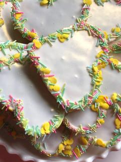 Pastel mint sugar cookies