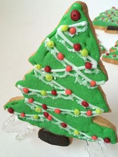 Christmas treesugar cookies