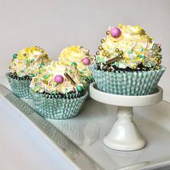 Chocolate cupcakes with sprinkles