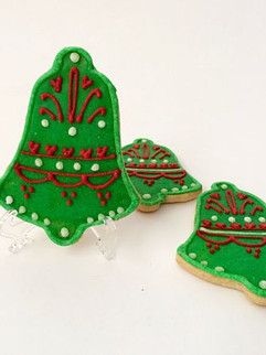 Green Christmas bells