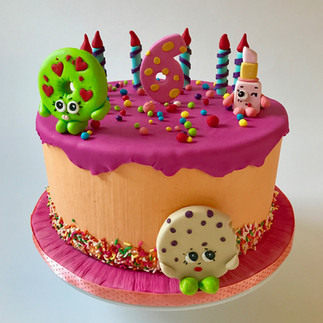 Funfetti and shopkins birthday cake