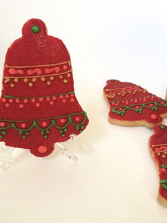 Red Christmas bell cookies