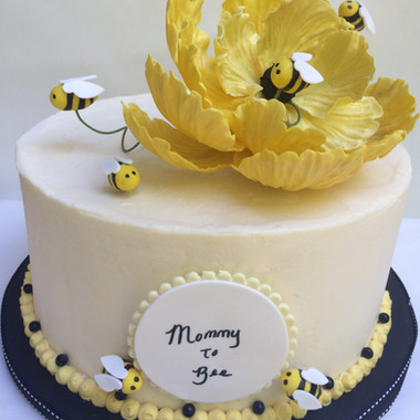 Bumble bees baby shower cake