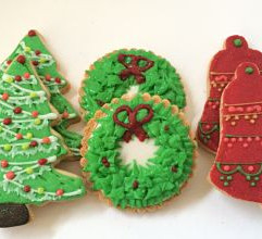 Christmas decorative sugar cookies