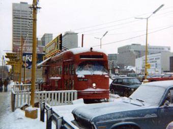 Vinyl on a Tram - in Toronto