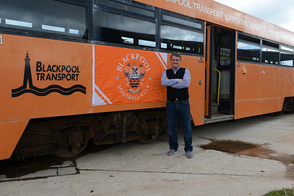 Lee Clark (BFC) with Tram 641 - 30.4.15.jpg