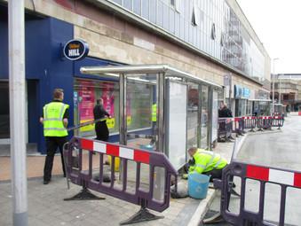Market Street Bus Stances near completion