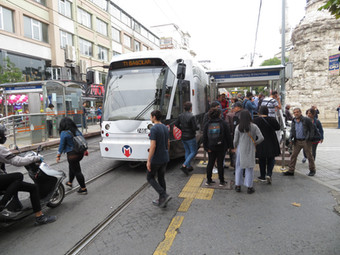 Double deck trams