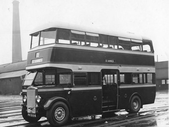 2 JULY 1921 Blackpool Corporation Tramways Motor Bus Service Begins