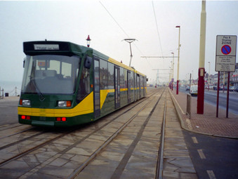 All-British Low Floor Tram in Blackpool