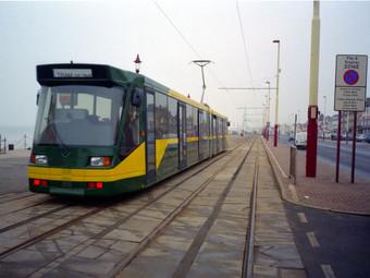 All-British Low Floor Tram in Blackpool