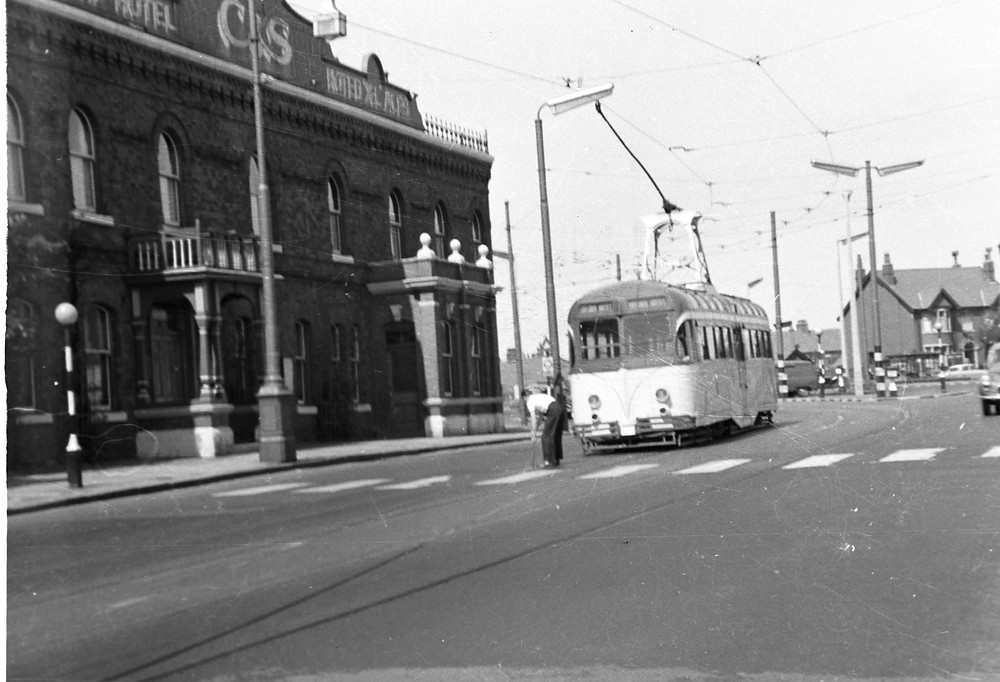 Tram passing The Oxford, Blackpool.jpg