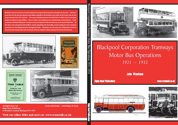 BLACKPOOL CORPORATION TRAMWAYS - MOTORBUS OPERATIONS 1921 - 1932