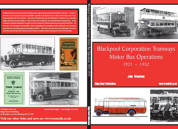 BLACKPOOL CORPORATION TRAMWAYS - MOTORBUS OPERATIONS 1921 - 1932