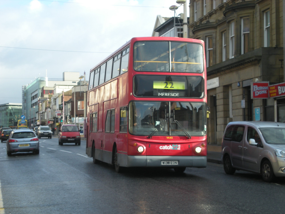 Catch22 Bus naturally on the 22 Service heading down Talbot Road en-route to Mereside recently.