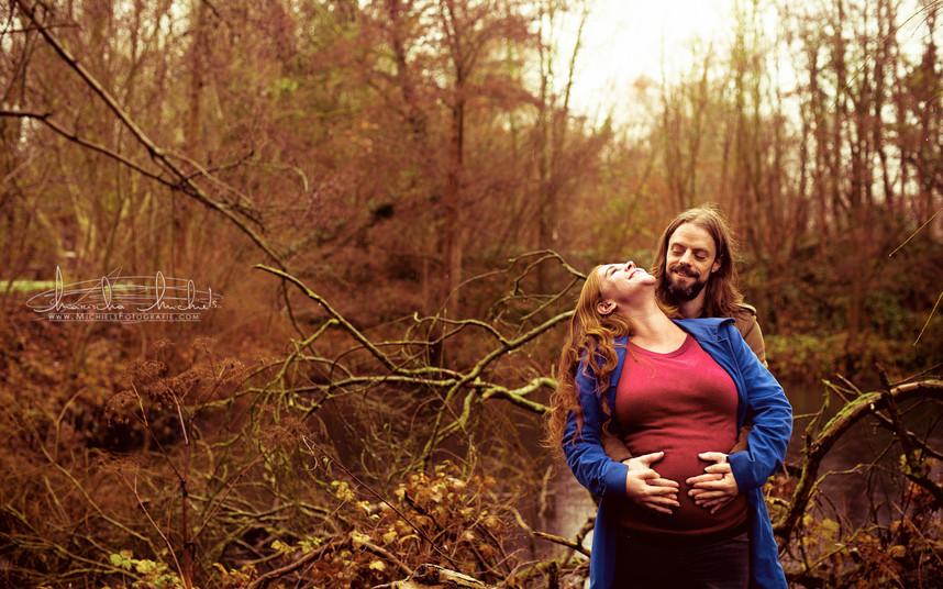Winter zwangerschapshoot