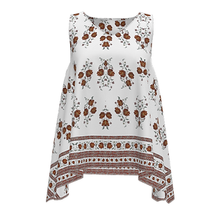HNW-008_white print with floral edge_Fro