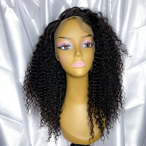 "(8) 16"" Deep Curly Virgin Frontal Wig"