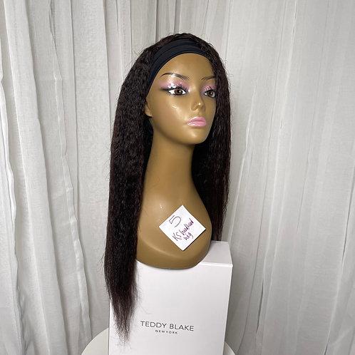 "NEW (5) 20"" Kinky Straight Headband Wig"