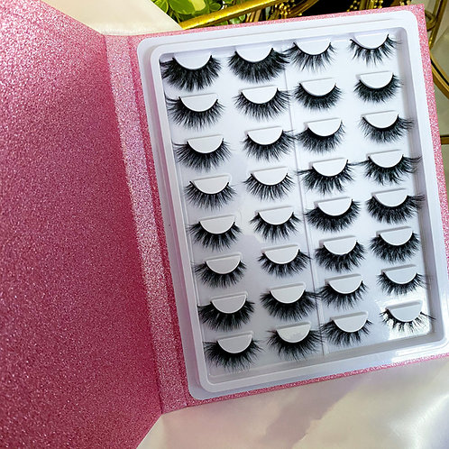 DIVA Glam Lash Magazine | 16 Pair -- Mink Lashes
