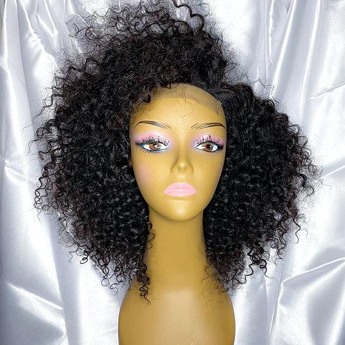 "(2) 12"" Deep Curly Virgin Closure Wig"