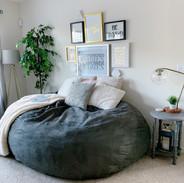 Cozy Bean Bag Area