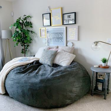 Cozy Bean Bag Area