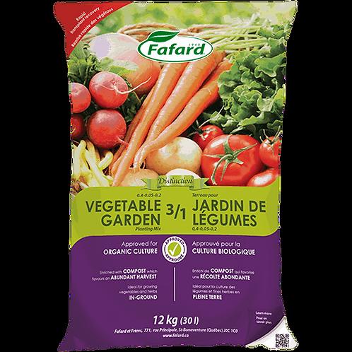 Fafard 3/1 Vegetable Garden Planting Mix (Organic) - 30L