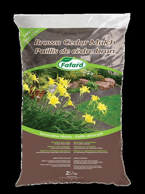 Fafard Cedar Mulch 2 cft. - Brown (SB,LO)