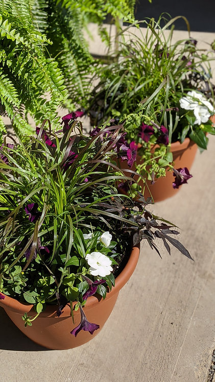 """16"""" Round Planters - Country Mix"""
