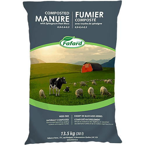 Fafard Composted Manure With Sphagnum Peat Moss - 30L