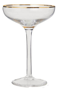 H&M Champagne Glass with gold rim