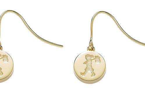 Runaway Stamp Earrings- 9ct GOLD