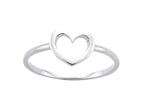 Mini Heart Ring-SILVER or 9ct GOLD