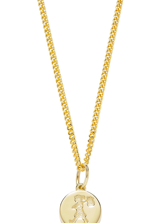 Runaway Stamp Necklace - 9ct GOLD