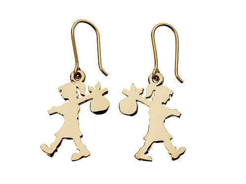 Runaway Girl Earrings- 9ct GOLD