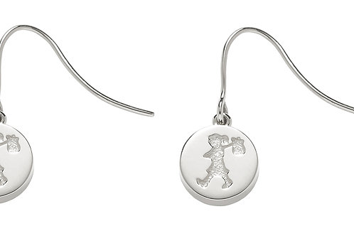 Runaway Stamp Earrings- SILVER