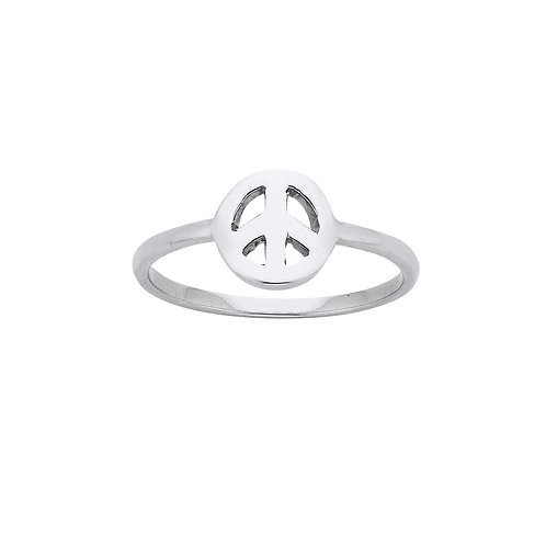 Mini Peace Ring- SILVER or GOLD