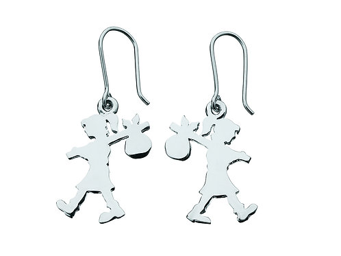 Runaway Girl Earrings- SILVER