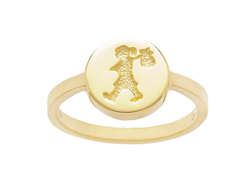 Runaway Stamp Ring- 9ct GOLD
